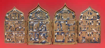 1053n: Four-hinged skladen - camp iconostasis._1