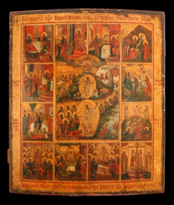 3037n: Important Icon of the Ressurrection and Descent...