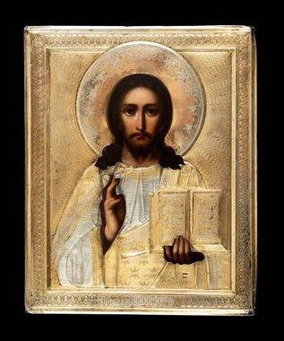 3128n: Jesus Christ . Lord Almighty in the silver frame.