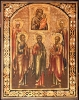 2622n: Selected Saints: Apostles - Andrew, Peter and Paul and the saints. SOLD