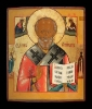 21n: Saint Nicholas the Miracle-worker in a precious embroidered riza.